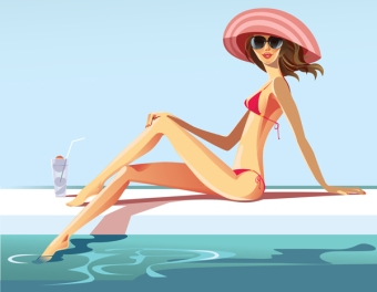 summer-vector-girl-swimming-pool